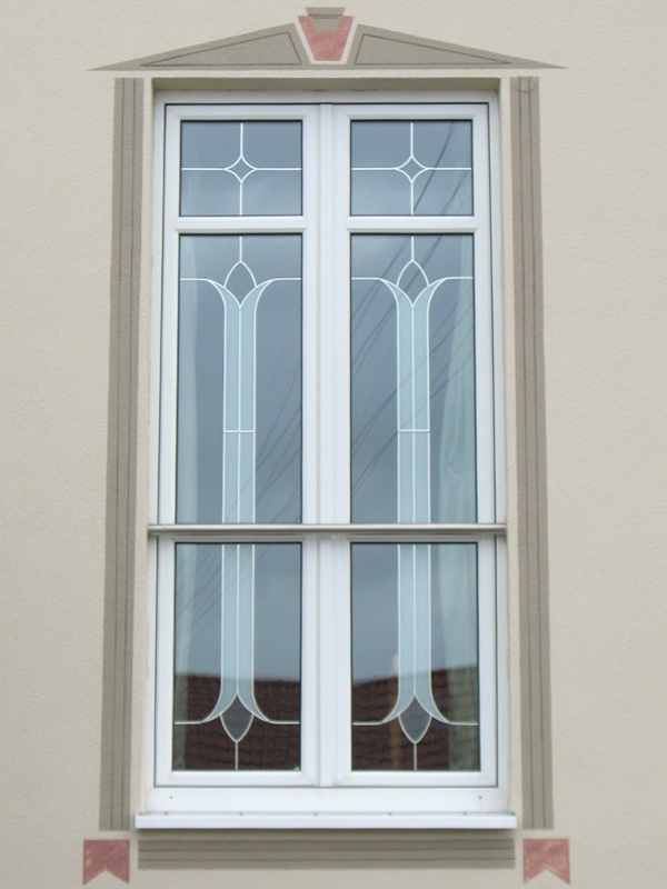 perfecta Fenster mit Wandmalerei