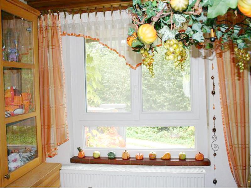 perfecta Fenster und Zierkürbisse