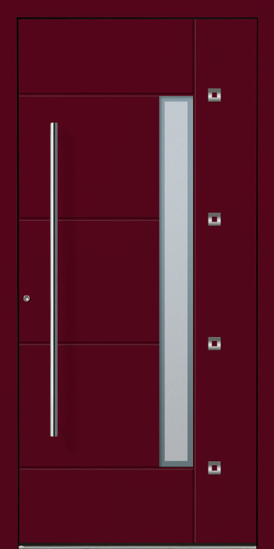 perfecta Haustür Modell RAL3005