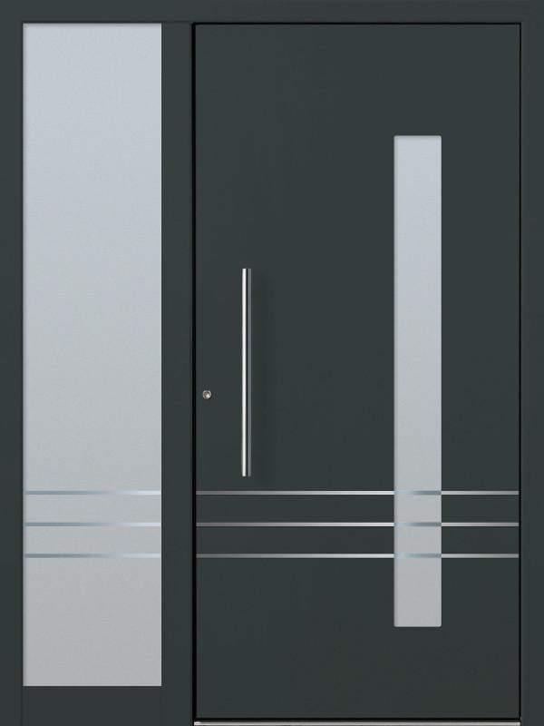 perfecta Haustür Modell RAL7016